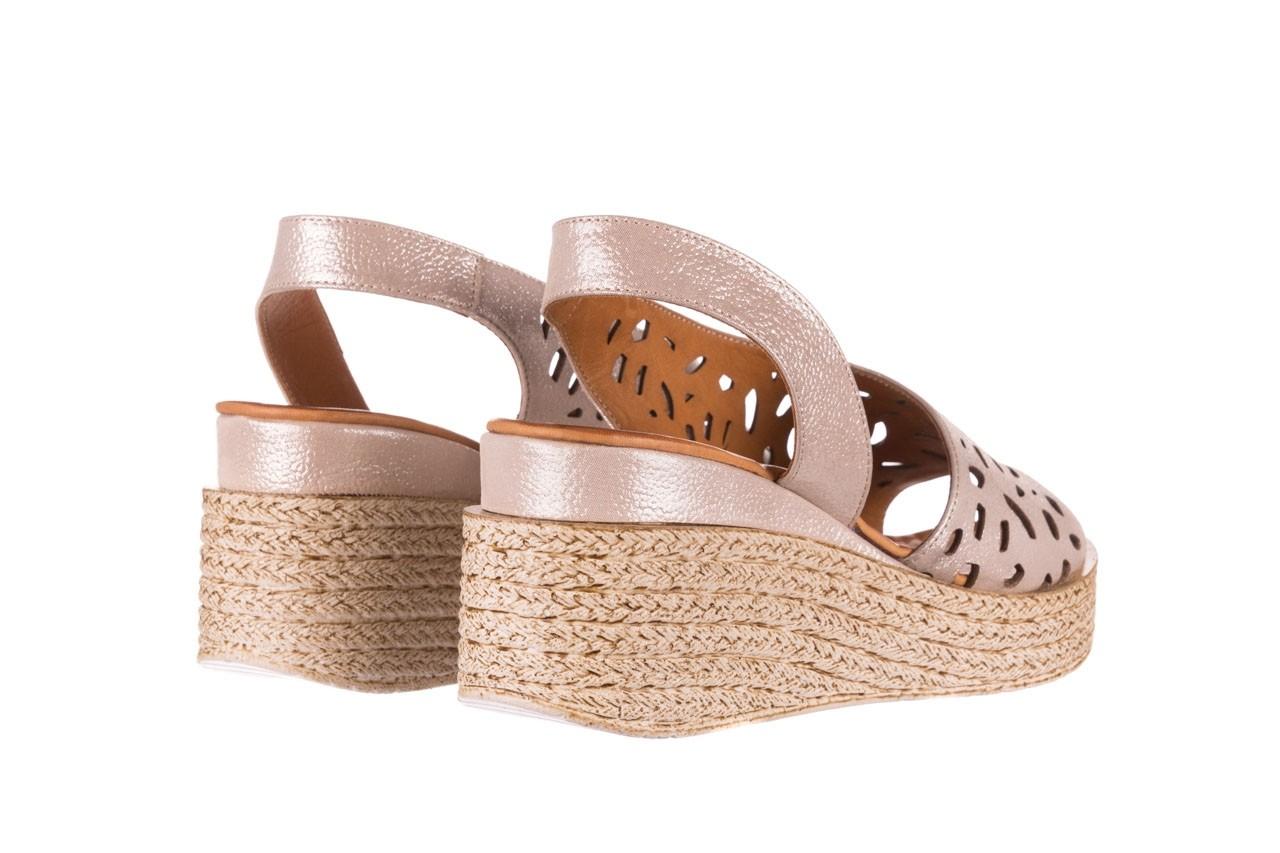 Sandały bayla-112 0414-1390 beż, skóra naturalna  - koturny - buty damskie - kobieta 10