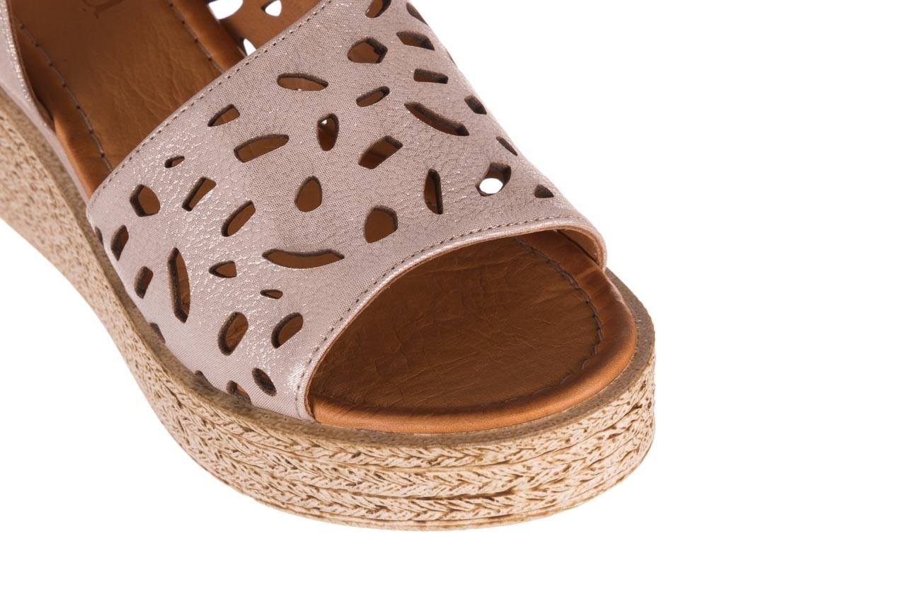 Sandały bayla-112 0414-1390 beż, skóra naturalna  - koturny - buty damskie - kobieta 12