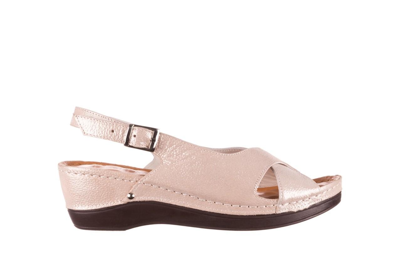 Sandały bayla-112 0158-58 beż, skóra naturalna  - na koturnie - sandały - buty damskie - kobieta 7