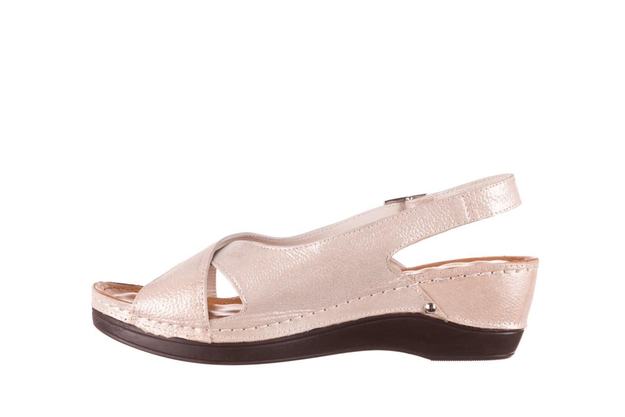 Sandały bayla-112 0158-58 beż, skóra naturalna  - na koturnie - sandały - buty damskie - kobieta 9