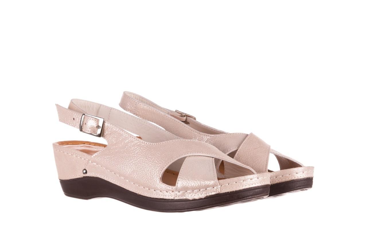 Sandały bayla-112 0158-58 beż, skóra naturalna  - na koturnie - sandały - buty damskie - kobieta 8