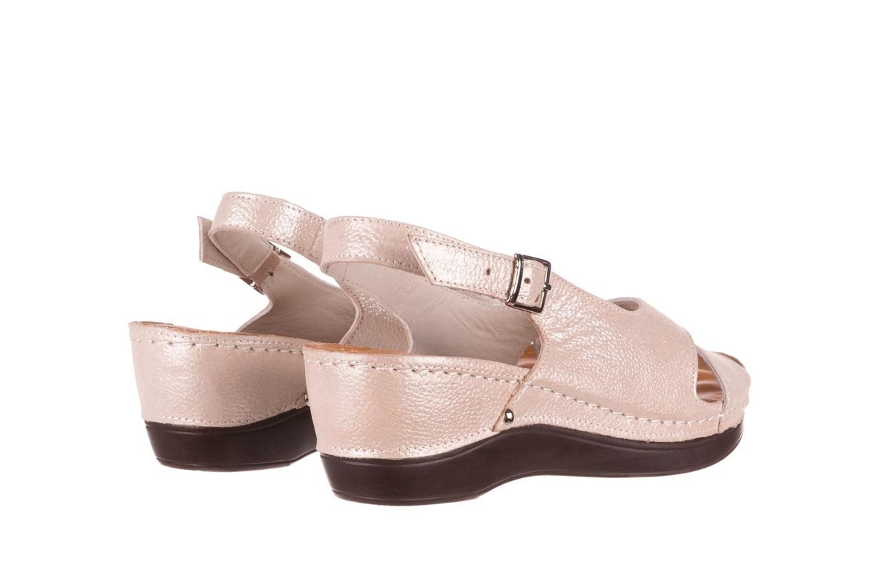 Sandały bayla-112 0158-58 beż, skóra naturalna  - na koturnie - sandały - buty damskie - kobieta 10