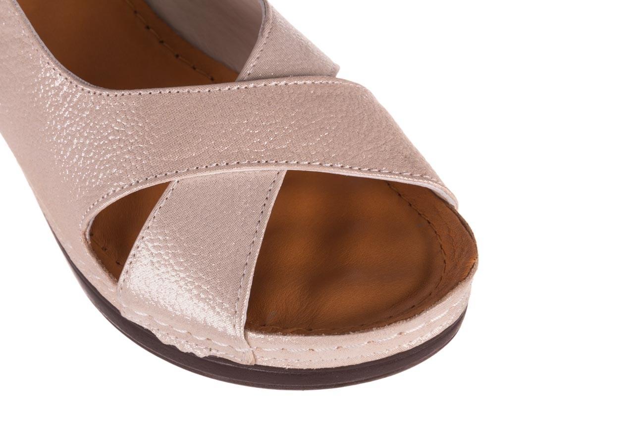 Sandały bayla-112 0158-58 beż, skóra naturalna  - na koturnie - sandały - buty damskie - kobieta 12