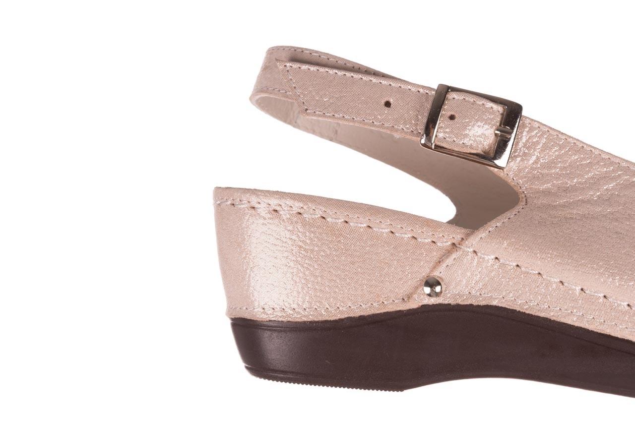 Sandały bayla-112 0158-58 beż, skóra naturalna  - na koturnie - sandały - buty damskie - kobieta 13