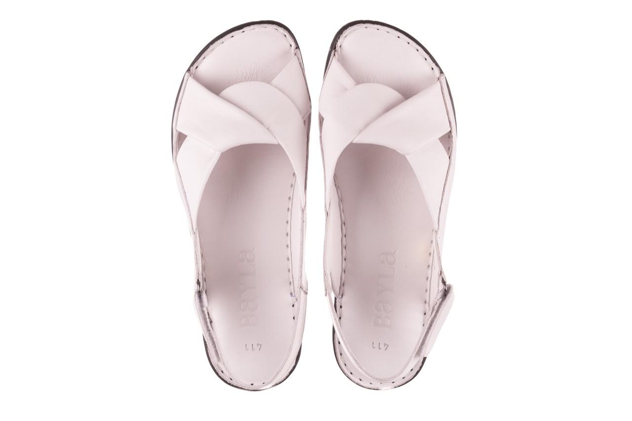 Sandały bayla-112 0277-411-453 biały, skóra naturalna  - bayla - nasze marki 11