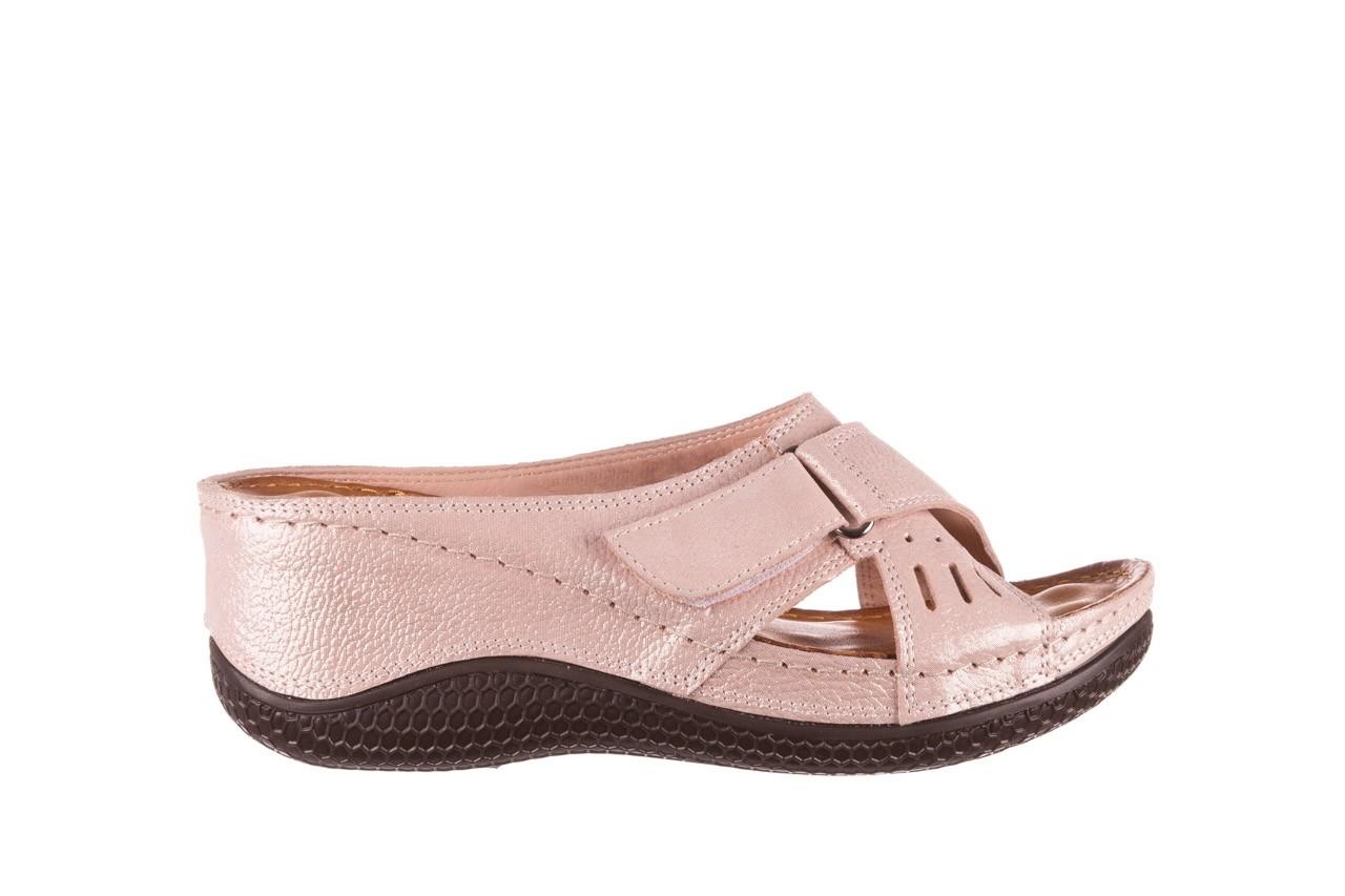 Klapki bayla-112 0001-444-bs43 róż, skóra naturalna  - klapki - buty damskie - kobieta 6