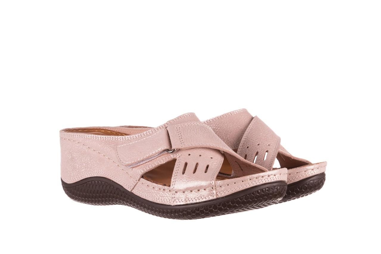 Klapki bayla-112 0001-444-bs43 róż, skóra naturalna  - klapki - buty damskie - kobieta 7