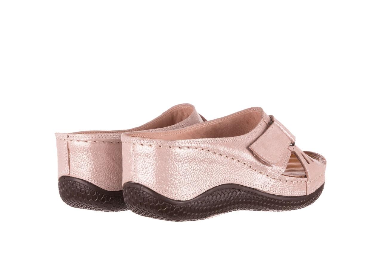 Klapki bayla-112 0001-444-bs43 róż, skóra naturalna  - klapki - buty damskie - kobieta 9
