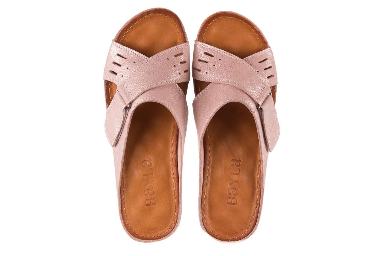 Klapki bayla-112 0001-444-bs43 róż, skóra naturalna  - klapki - buty damskie - kobieta 10