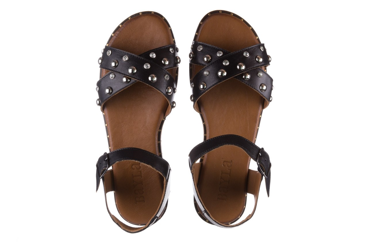 Sandały bayla-176 122z czarny, skóra naturalna  - bayla - nasze marki 11
