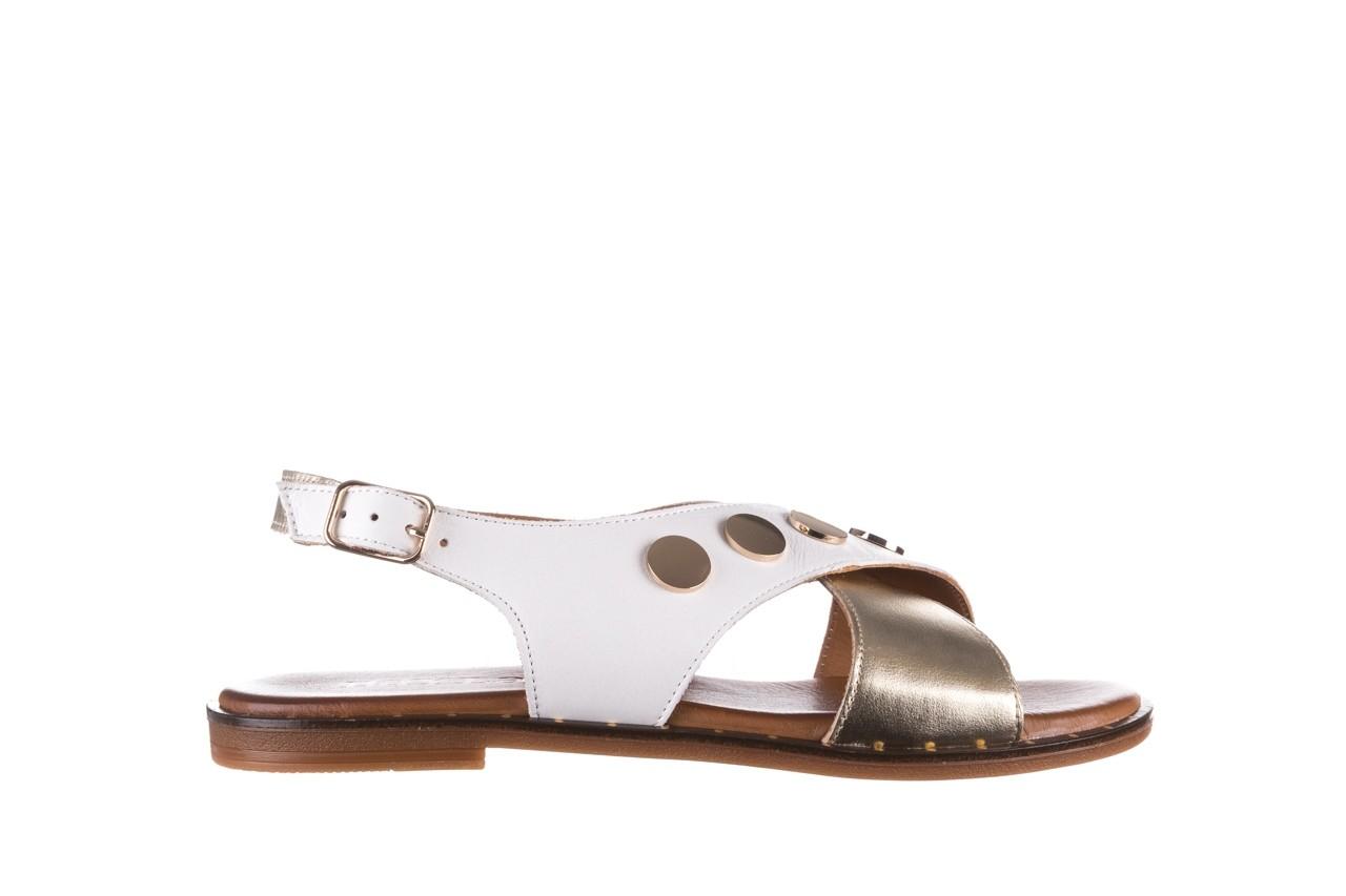 Sandały bayla-176 117z biały złoty, skóra naturalna  - bayla - nasze marki 7