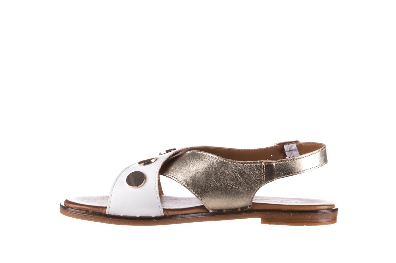 Sandały bayla-176 117z biały złoty, skóra naturalna  - bayla - nasze marki 9