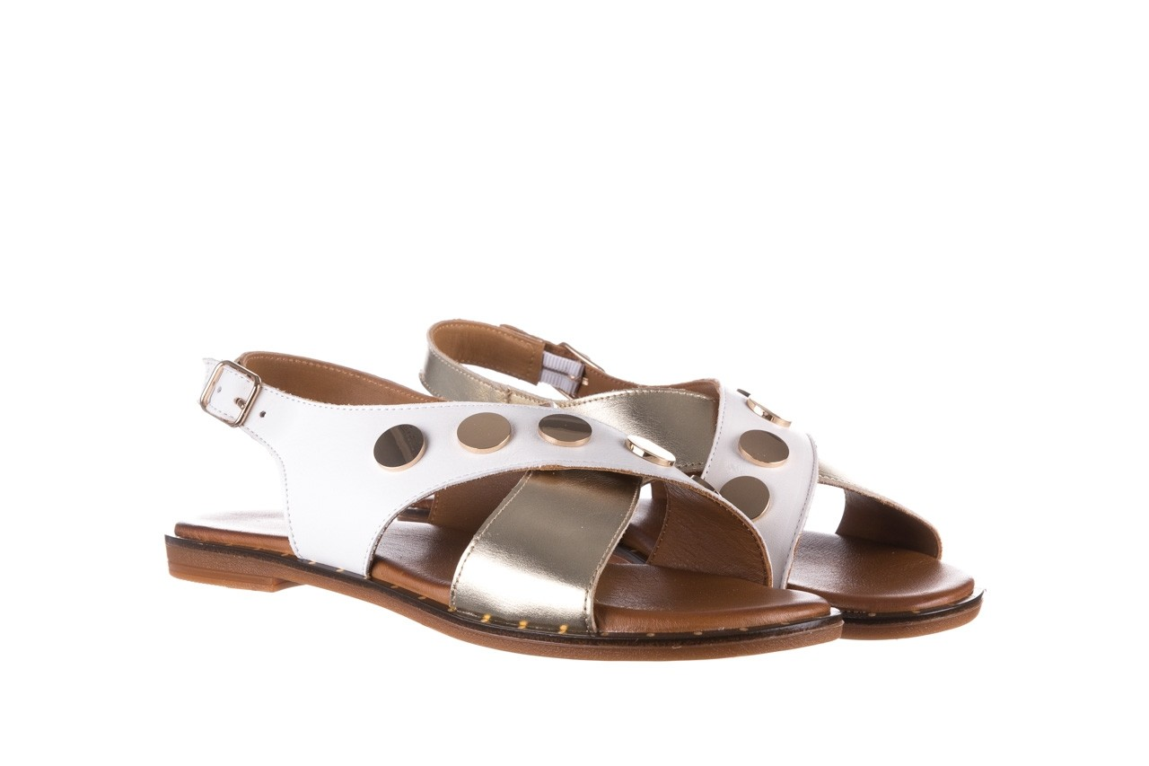 Sandały bayla-176 117z biały złoty, skóra naturalna  - bayla - nasze marki 8