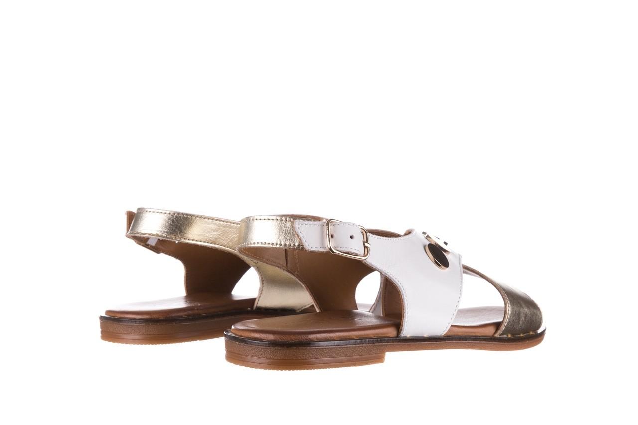 Sandały bayla-176 117z biały złoty, skóra naturalna  - bayla - nasze marki 10