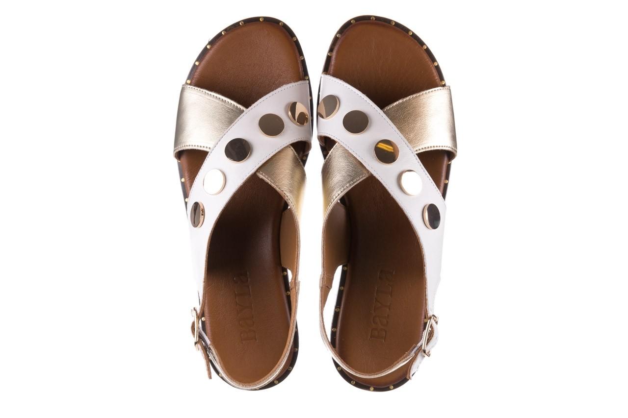 Sandały bayla-176 117z biały złoty, skóra naturalna  - bayla - nasze marki 11