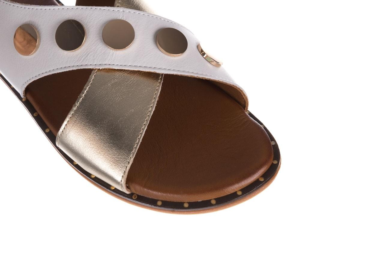 Sandały bayla-176 117z biały złoty, skóra naturalna  - bayla - nasze marki 12