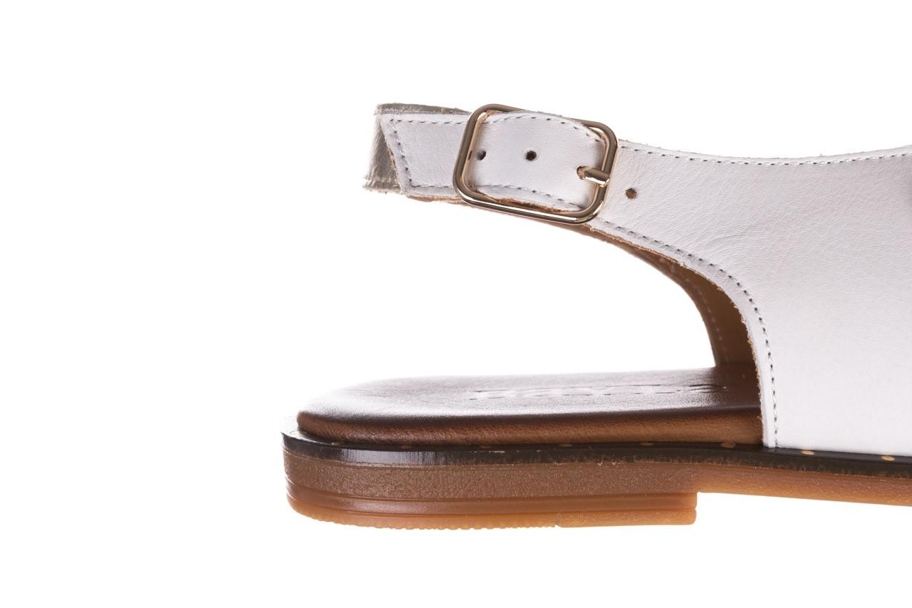 Sandały bayla-176 117z biały złoty, skóra naturalna  - bayla - nasze marki 13