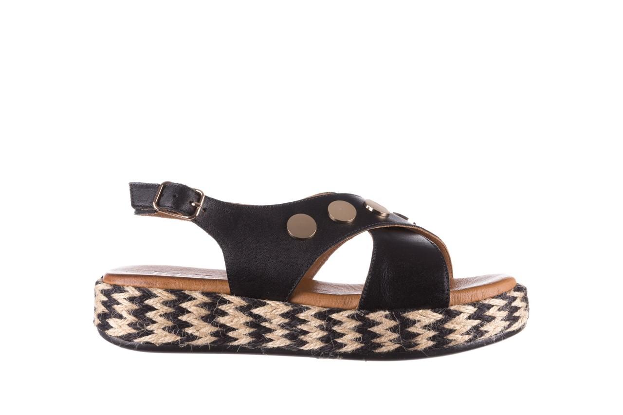 Sandały bayla-176 1414 czarny, skóra naturalna  - na platformie - sandały - buty damskie - kobieta 7