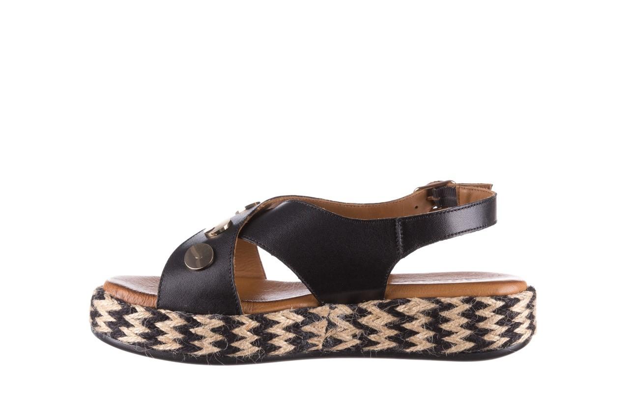 Sandały bayla-176 1414 czarny, skóra naturalna  - na platformie - sandały - buty damskie - kobieta 9