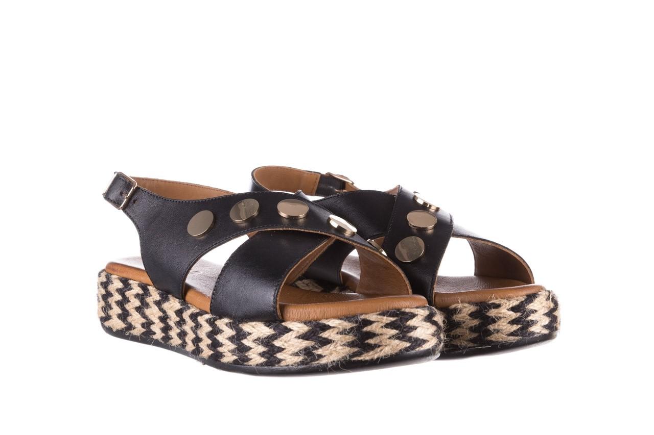 Sandały bayla-176 1414 czarny, skóra naturalna  - na platformie - sandały - buty damskie - kobieta 8