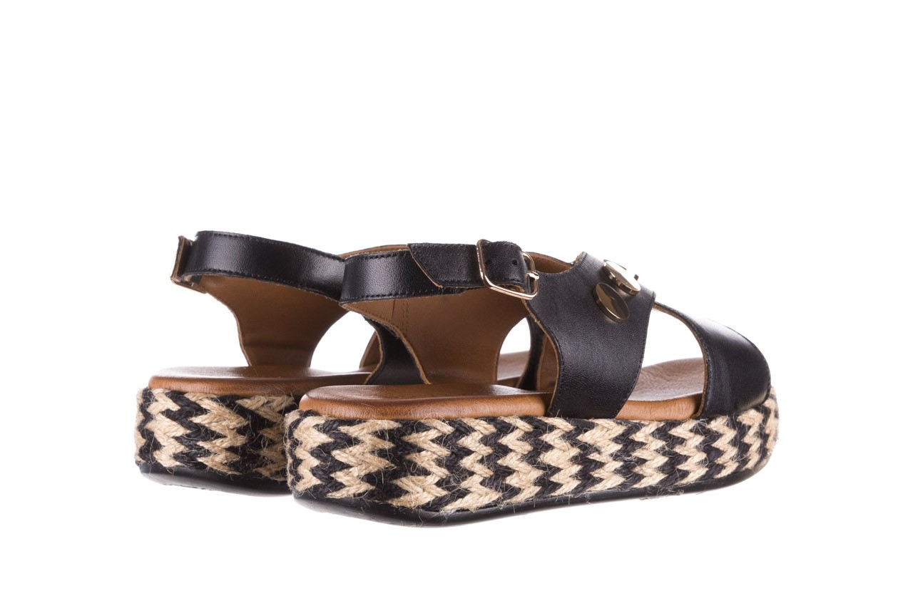 Sandały bayla-176 1414 czarny, skóra naturalna  - na platformie - sandały - buty damskie - kobieta 10