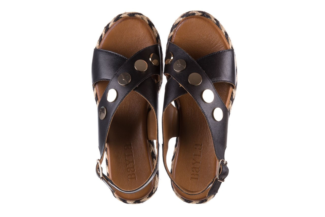 Sandały bayla-176 1414 czarny, skóra naturalna  - na platformie - sandały - buty damskie - kobieta 11