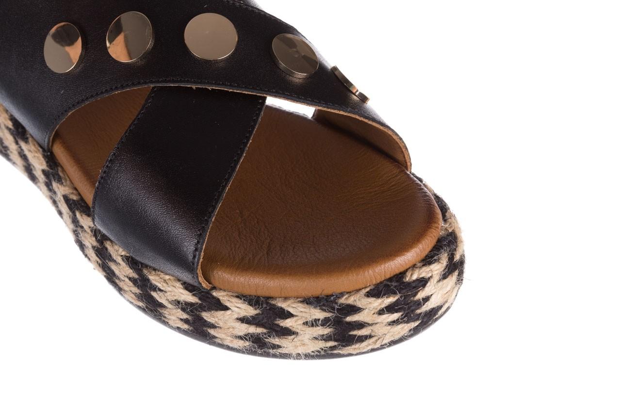 Sandały bayla-176 1414 czarny, skóra naturalna  - na platformie - sandały - buty damskie - kobieta 12