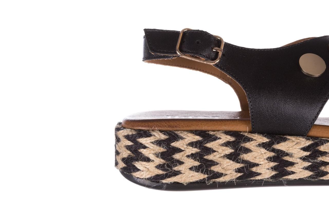 Sandały bayla-176 1414 czarny, skóra naturalna  - na platformie - sandały - buty damskie - kobieta 13