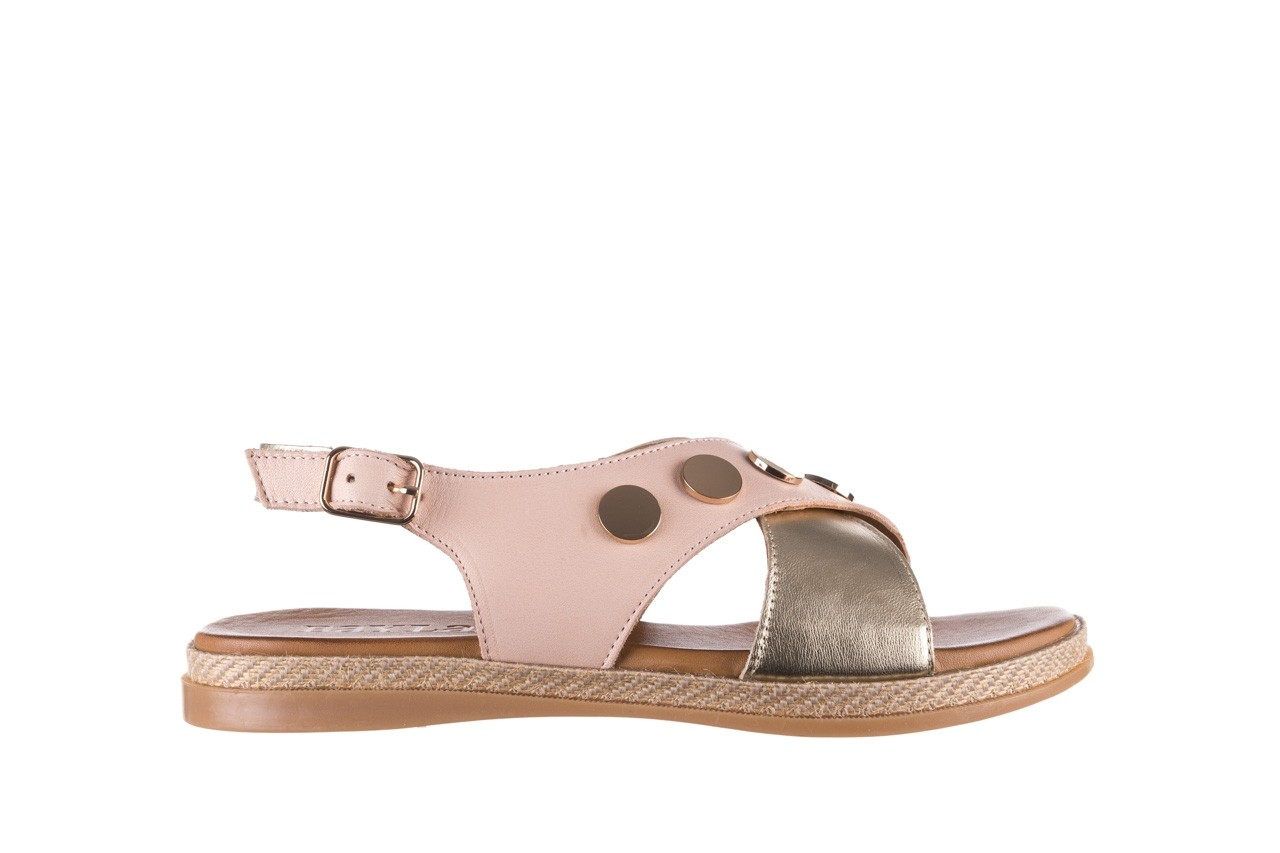 Sandały bayla-176 117 różowy złoty, skóra naturalna  - bayla - nasze marki 7