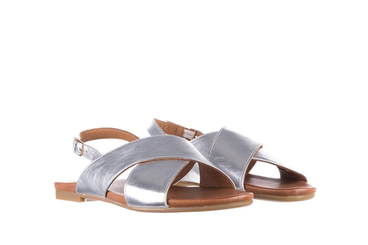 Sandały bayla-176 8641 silver, srebrny, skóra naturalna  - bayla - nasze marki 8
