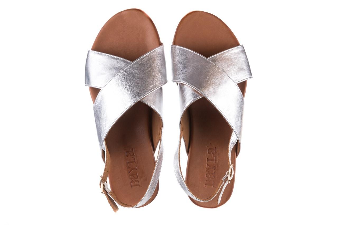 Sandały bayla-176 8641 silver, srebrny, skóra naturalna  - bayla - nasze marki 11