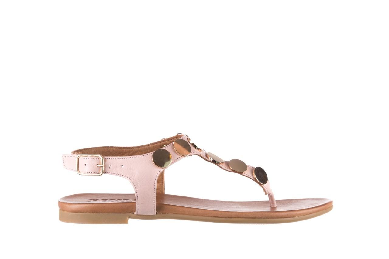 Sandały bayla-176 8643 różowy, skóra naturalna  - japonki - sandały - buty damskie - kobieta 7