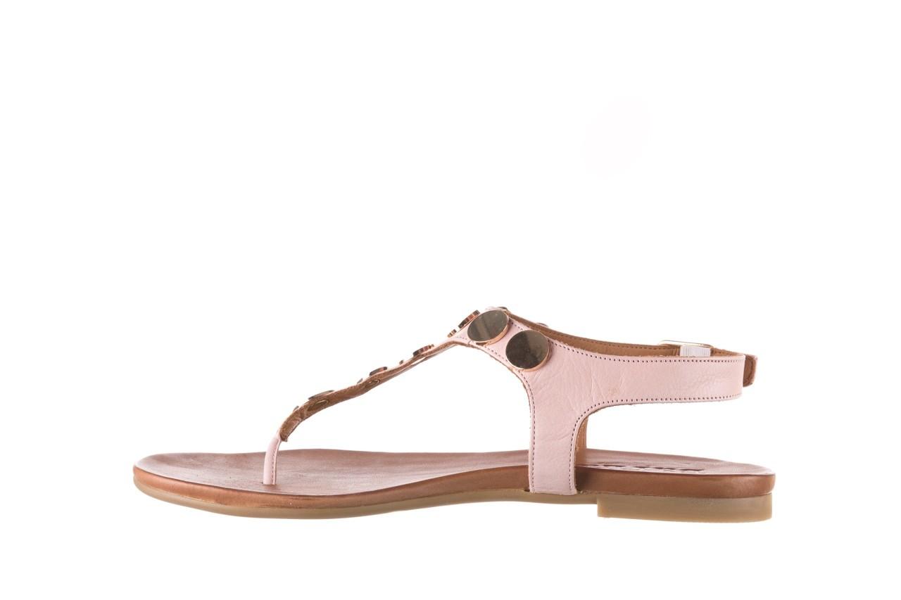 Sandały bayla-176 8643 różowy, skóra naturalna  - japonki - sandały - buty damskie - kobieta 9