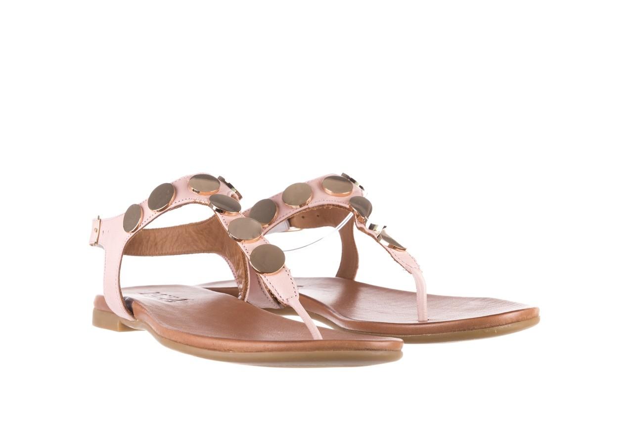 Sandały bayla-176 8643 różowy, skóra naturalna  - japonki - sandały - buty damskie - kobieta 8