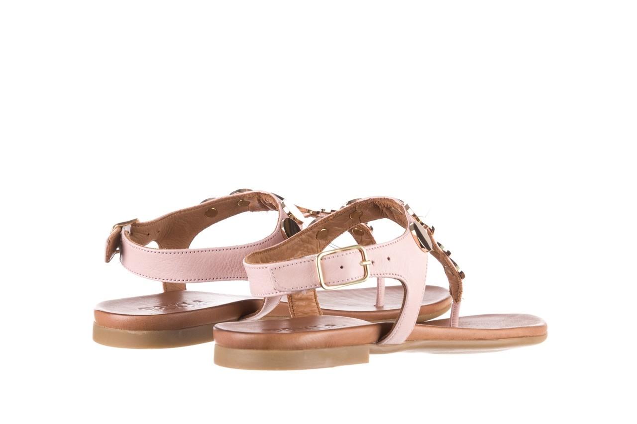 Sandały bayla-176 8643 różowy, skóra naturalna  - japonki - sandały - buty damskie - kobieta 10