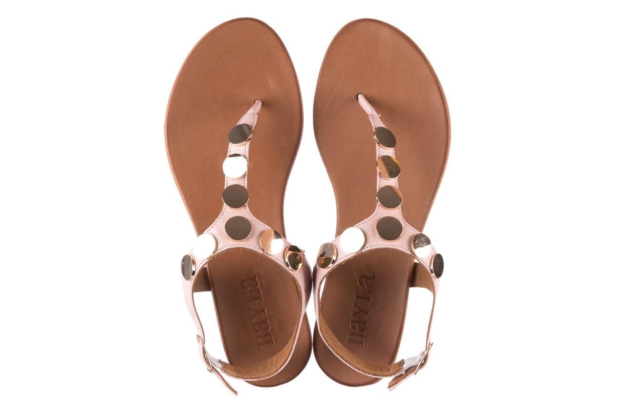Sandały bayla-176 8643 różowy, skóra naturalna  - japonki - sandały - buty damskie - kobieta 11
