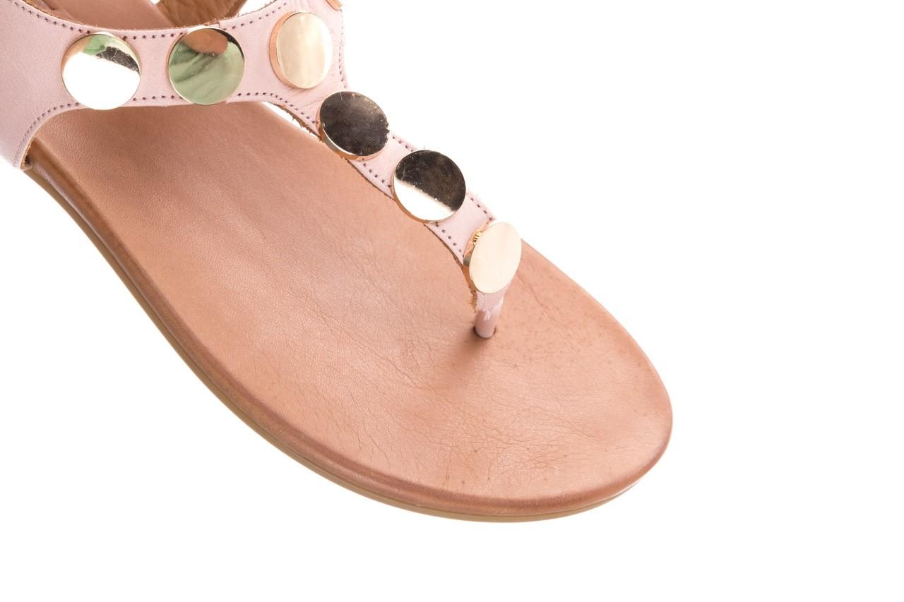 Sandały bayla-176 8643 różowy, skóra naturalna  - japonki - sandały - buty damskie - kobieta 12