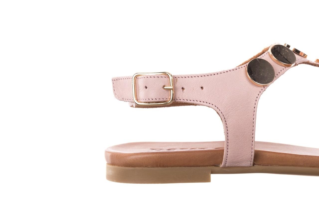 Sandały bayla-176 8643 różowy, skóra naturalna  - japonki - sandały - buty damskie - kobieta 13