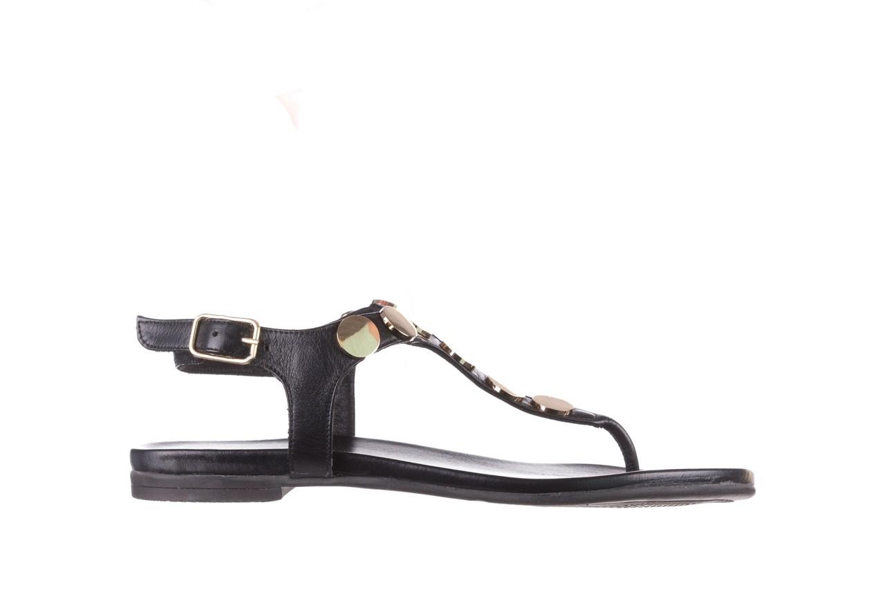 Sandały bayla-176 8643 czarny, skóra naturalna  - japonki - sandały - buty damskie - kobieta 7