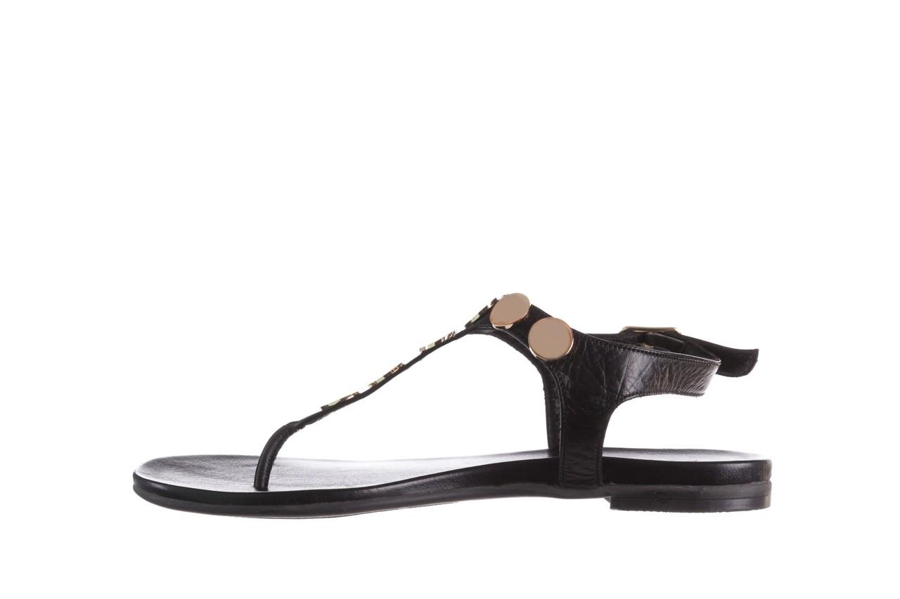 Sandały bayla-176 8643 czarny, skóra naturalna  - japonki - sandały - buty damskie - kobieta 9