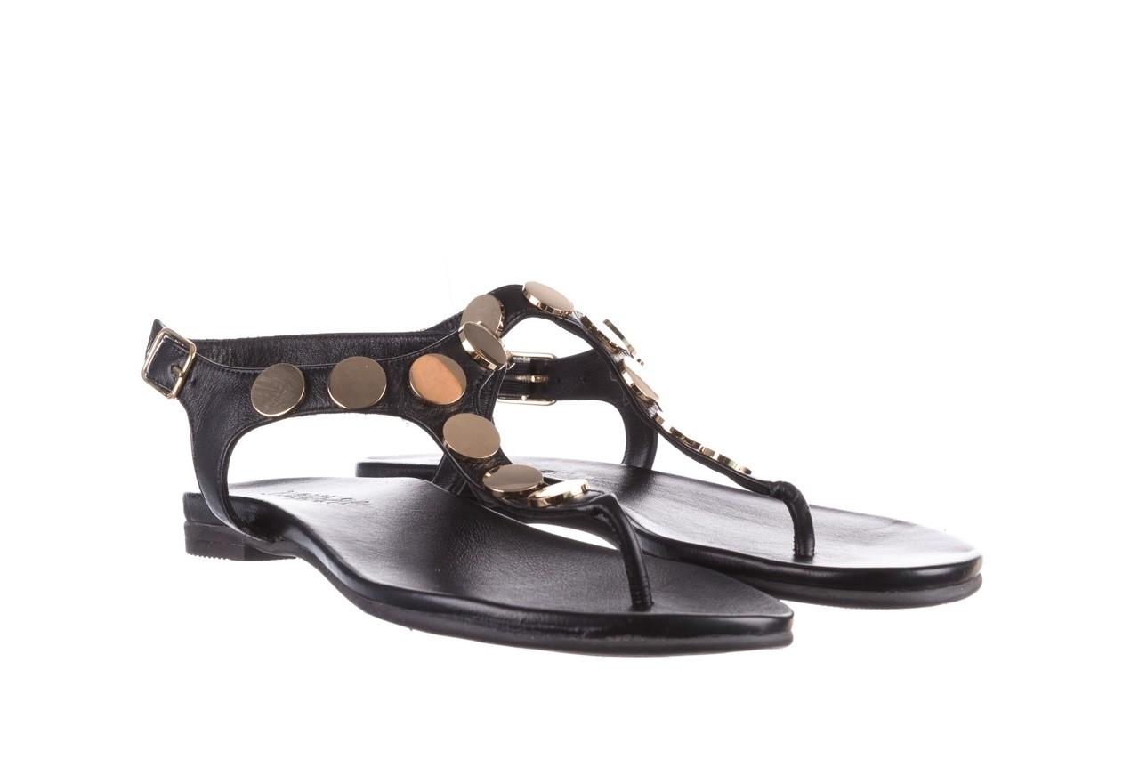Sandały bayla-176 8643 czarny, skóra naturalna  - japonki - sandały - buty damskie - kobieta 8