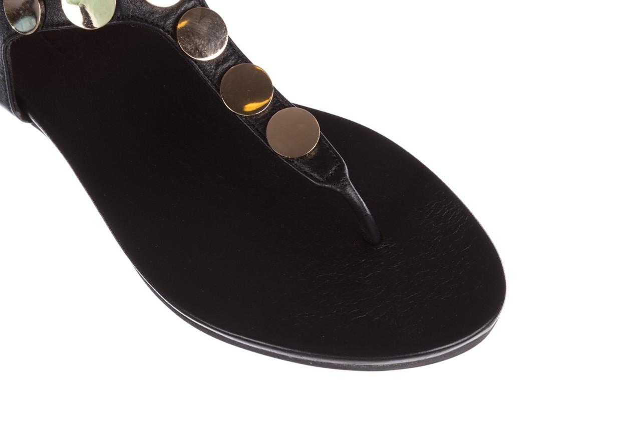 Sandały bayla-176 8643 czarny, skóra naturalna  - japonki - sandały - buty damskie - kobieta 12