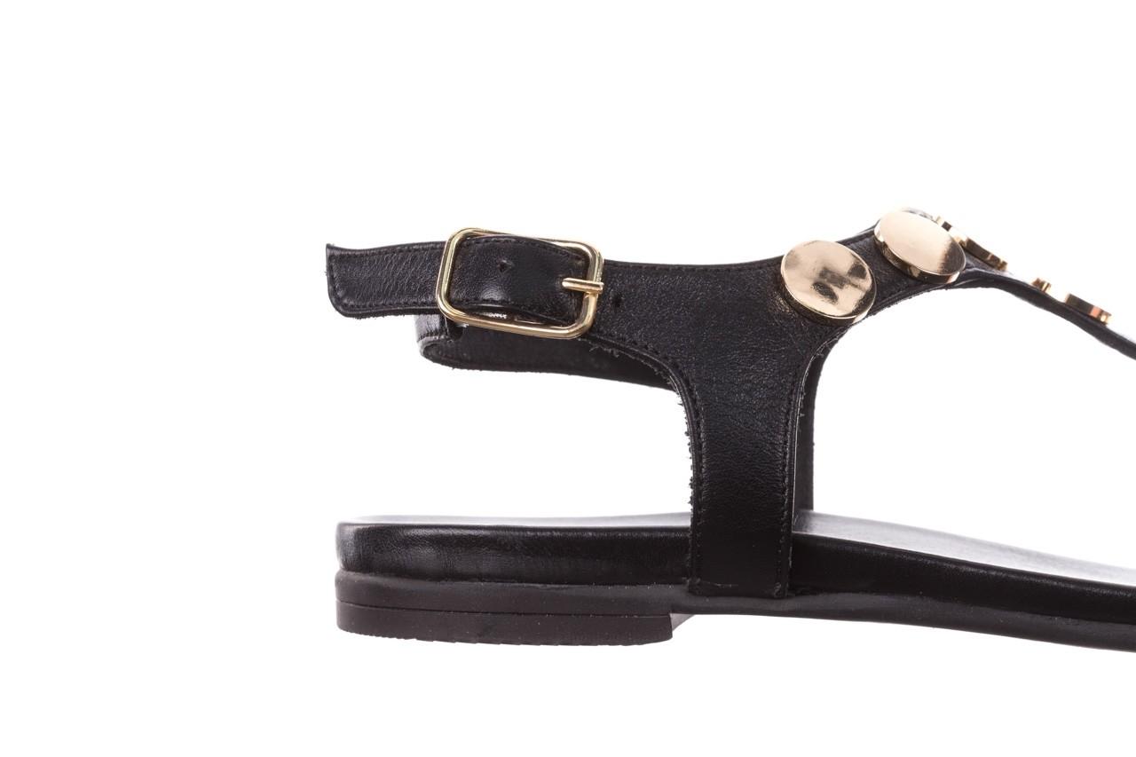 Sandały bayla-176 8643 czarny, skóra naturalna  - japonki - sandały - buty damskie - kobieta 13