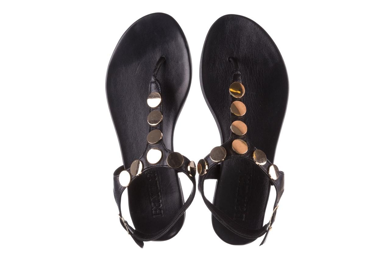 Sandały bayla-176 8643 czarny, skóra naturalna  - japonki - sandały - buty damskie - kobieta 11