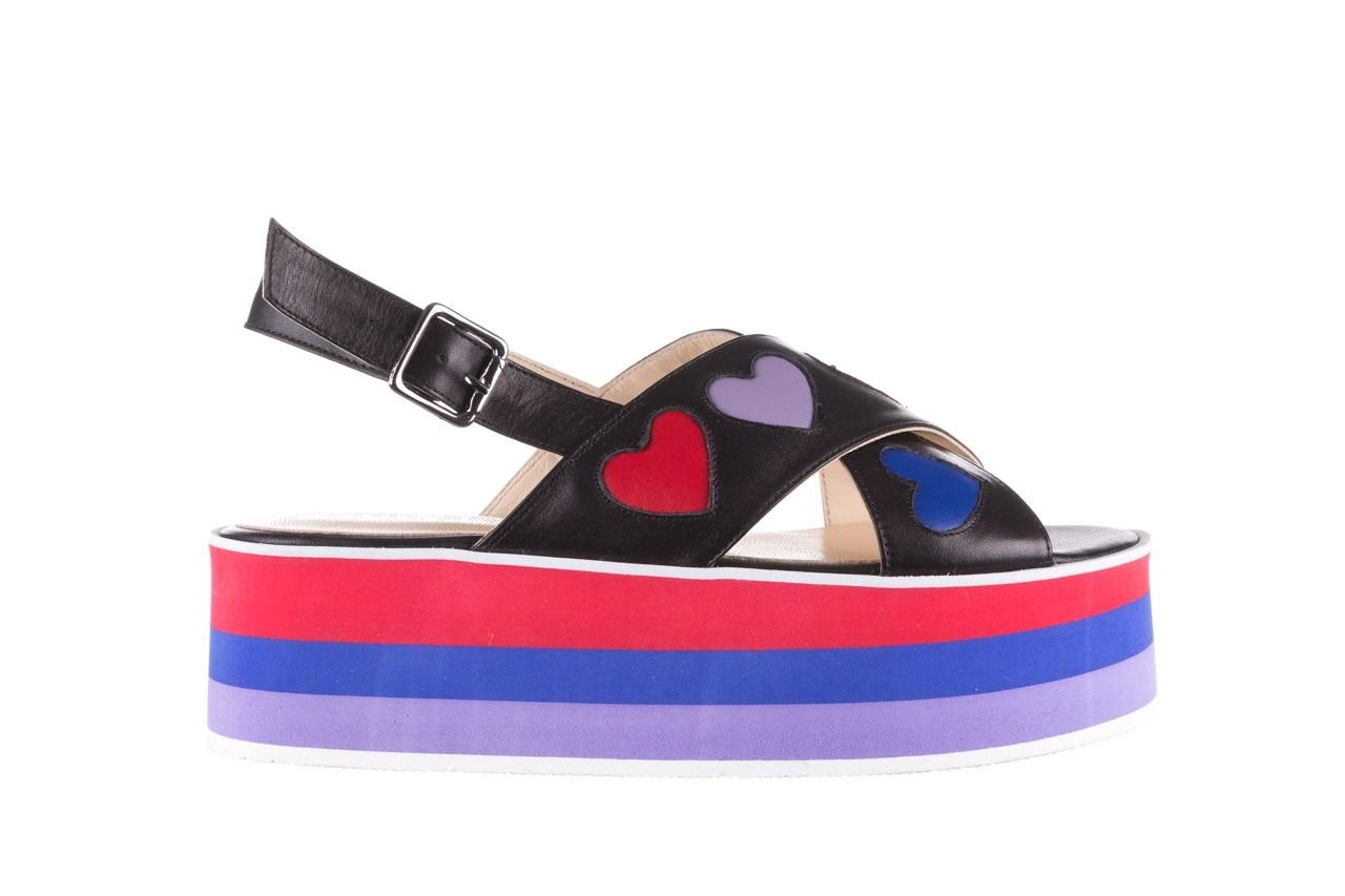 Sandały bayla-176 19136 czarny, skóra naturalna  - na platformie - sandały - buty damskie - kobieta 7