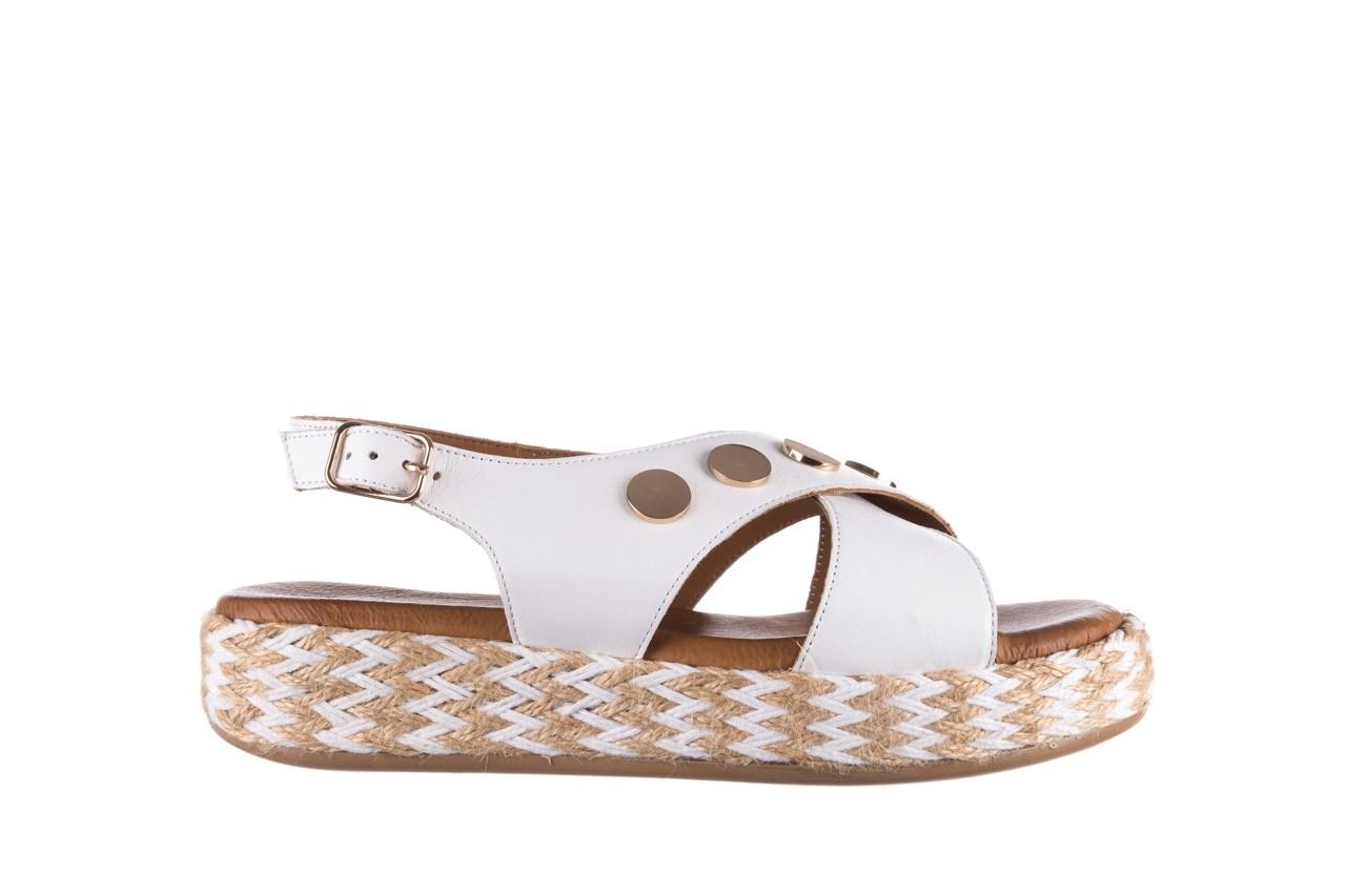 Sandały bayla-176 1414 biały, skóra naturalna  - na platformie - sandały - buty damskie - kobieta 7