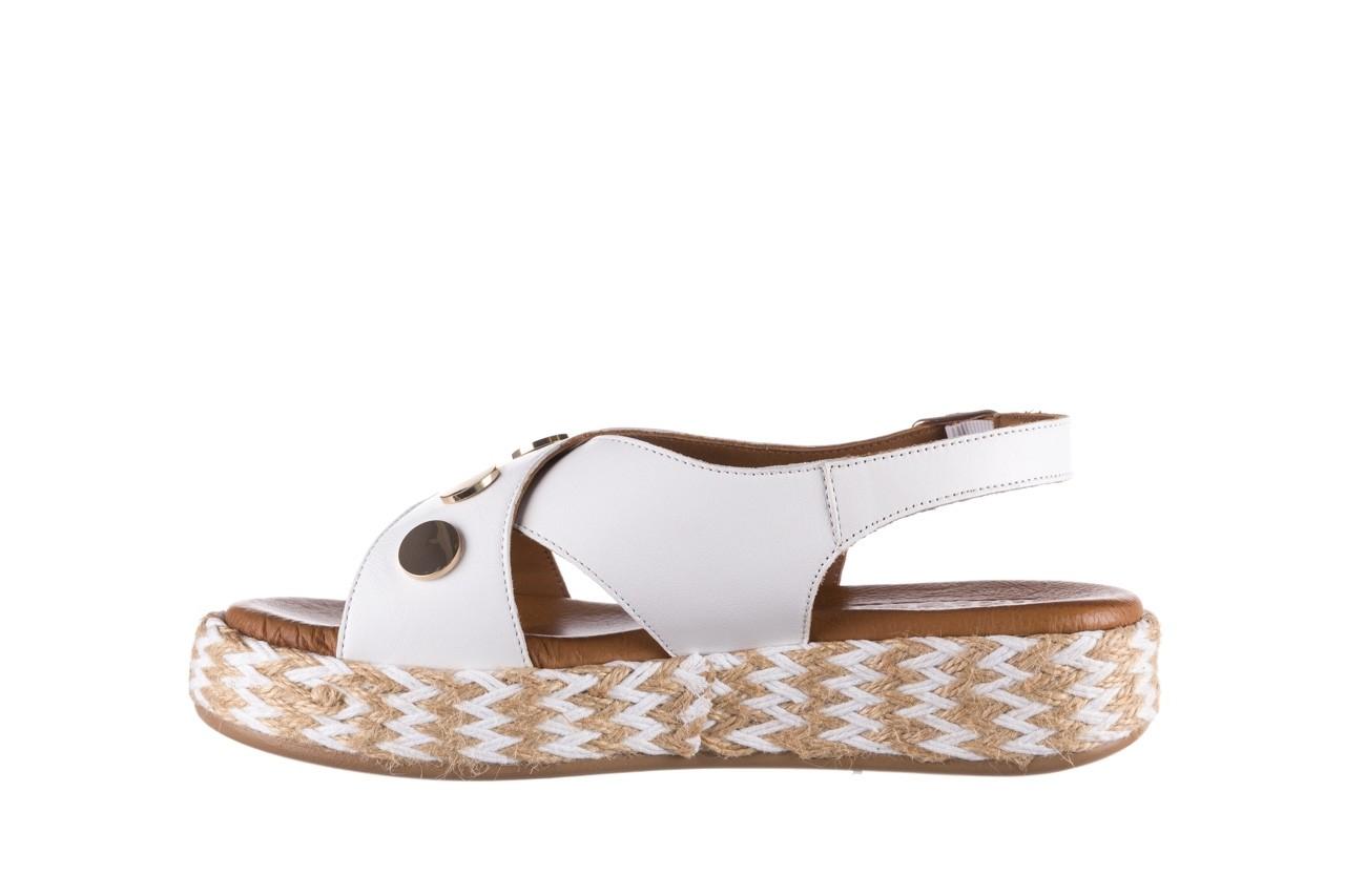 Sandały bayla-176 1414 biały, skóra naturalna  - na platformie - sandały - buty damskie - kobieta 9