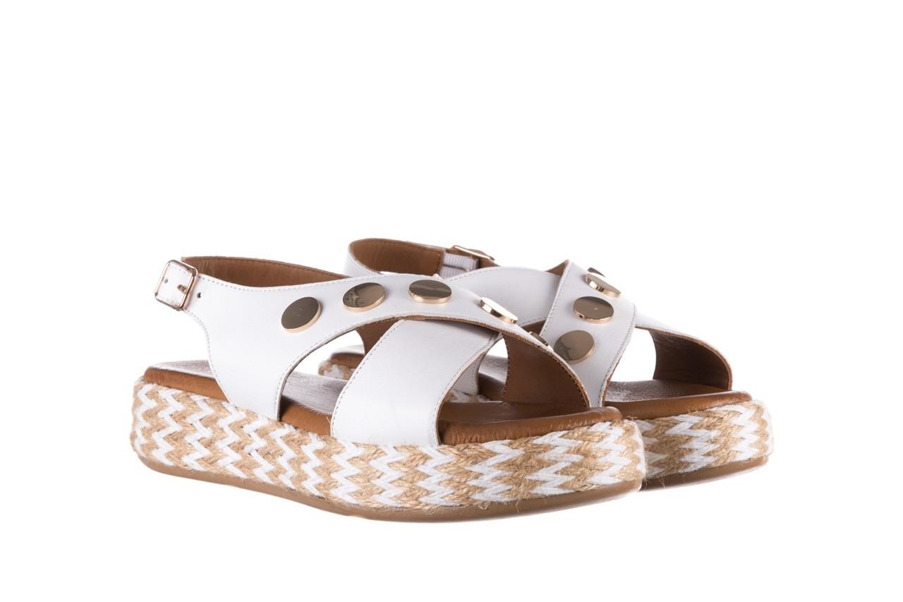 Sandały bayla-176 1414 biały, skóra naturalna  - na platformie - sandały - buty damskie - kobieta 8