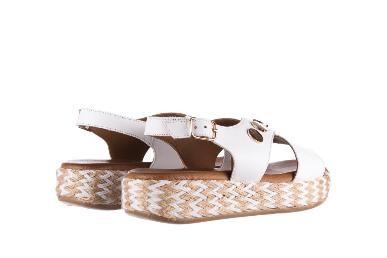Sandały bayla-176 1414 biały, skóra naturalna  - na platformie - sandały - buty damskie - kobieta 10