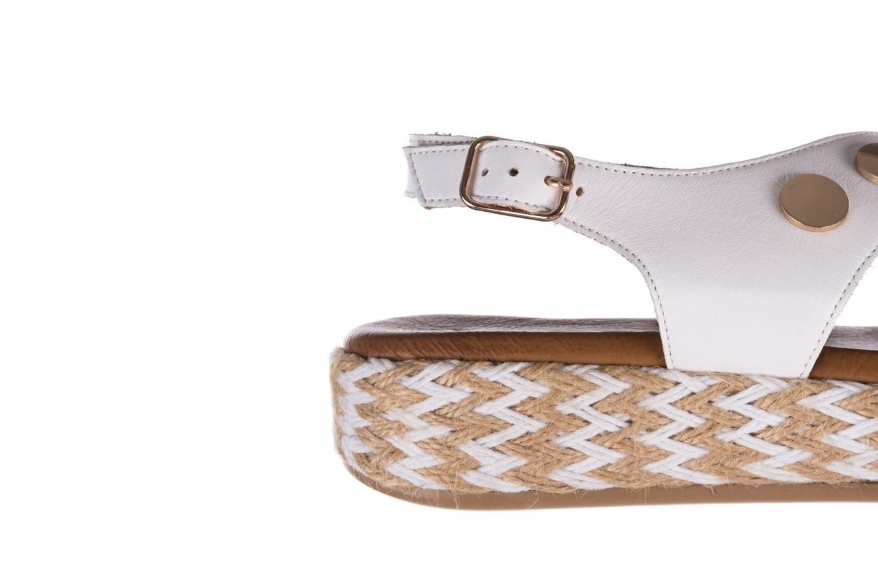 Sandały bayla-176 1414 biały, skóra naturalna  - na platformie - sandały - buty damskie - kobieta 13
